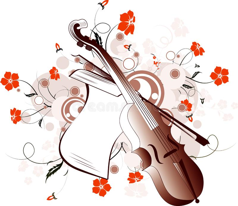 Fundo abstrato da música ilustração do vetor