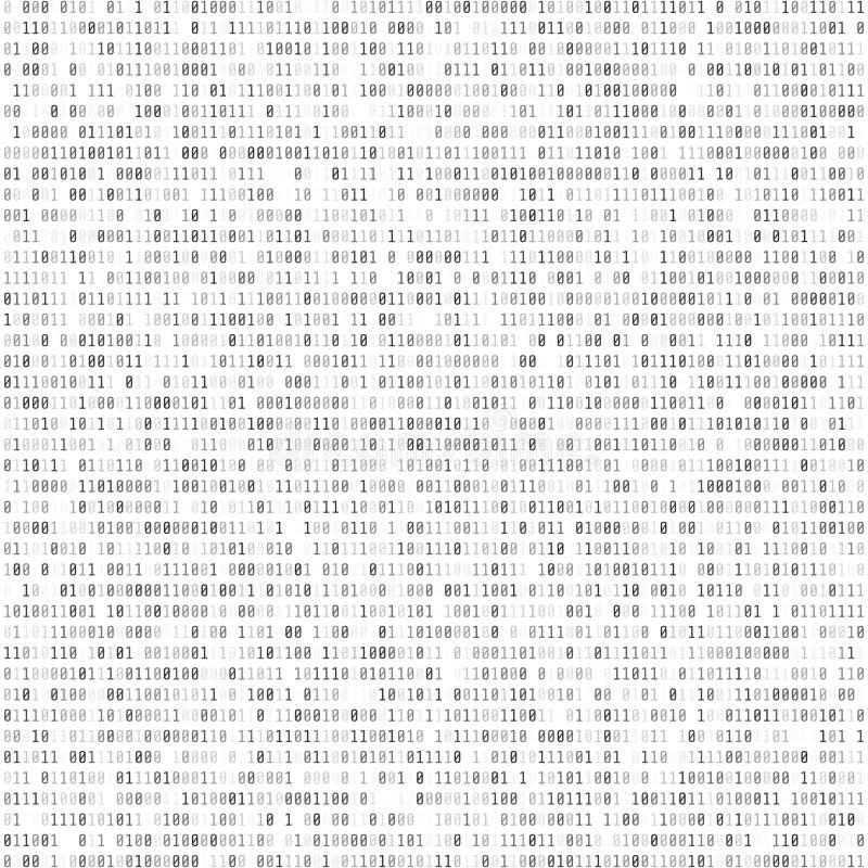 Fundo abstrato da matriz Código de computador binário Codificação e Hac ilustração stock