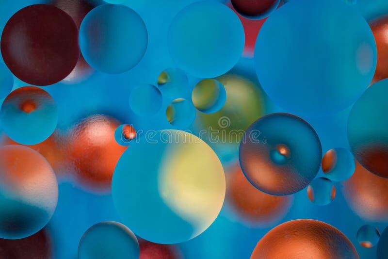 fundo abstrato da Multi-cor com gotas do óleo na água ilustração stock