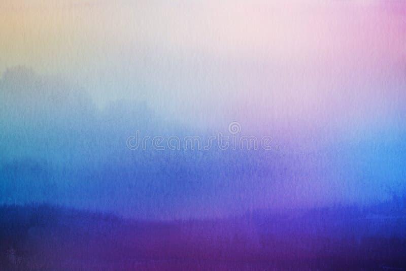 Fundo abstrato da natureza do borrão Folha de prova da aquarela imagem de stock