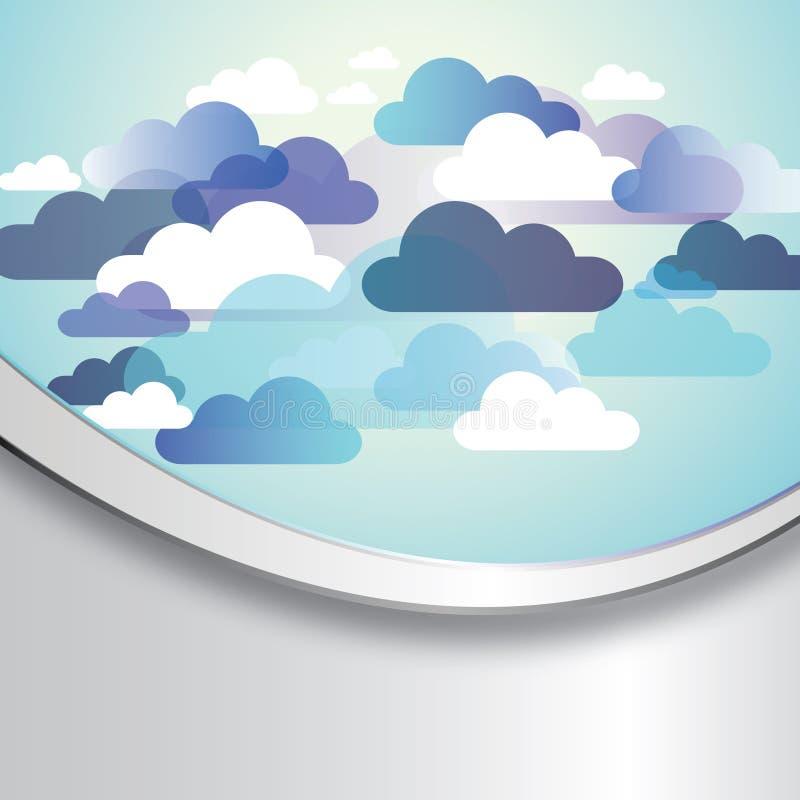 Fundo abstrato da nuvem ilustração do vetor