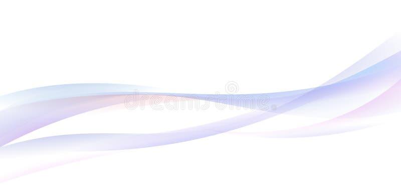 Fundo abstrato da onda Ilustração da curva, bandeira da Web ilustração stock