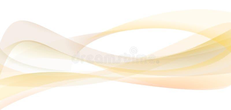 Fundo abstrato da onda Ilustração da curva, bandeira da Web ilustração royalty free