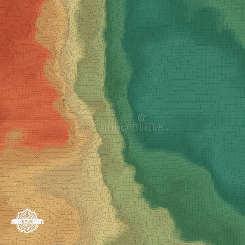Fundo abstrato da paisagem mosaic ilustração do vetor 3d ilustração royalty free