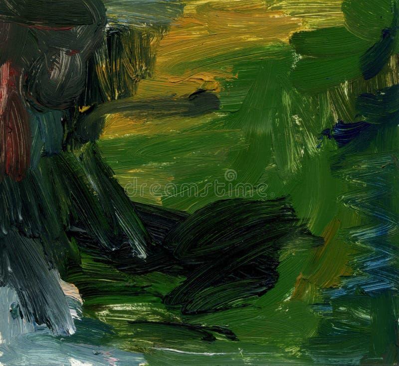 Fundo abstrato da pintura a óleo ilustração royalty free