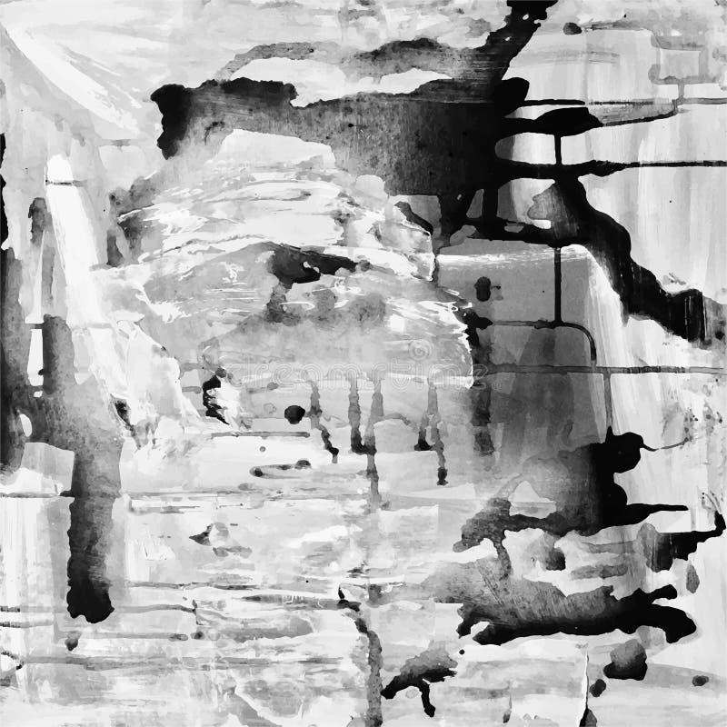 Fundo abstrato da pintura, composição acrílica da abstração ilustração royalty free
