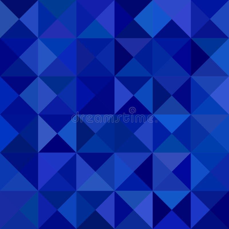 Fundo abstrato da pirâmide do triângulo - projeto do vetor do mosaico dos triângulos em tons azuis ilustração stock