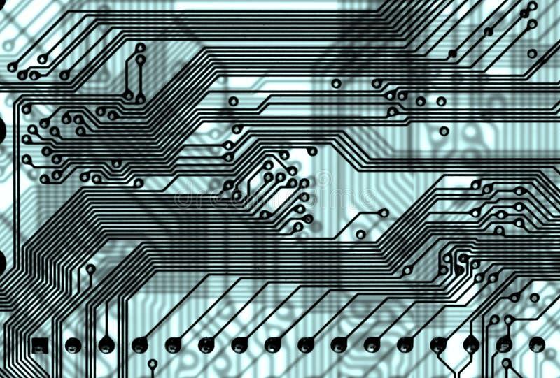 Fundo abstrato da placa de circuito no estilo alta tecnologia imagem de stock