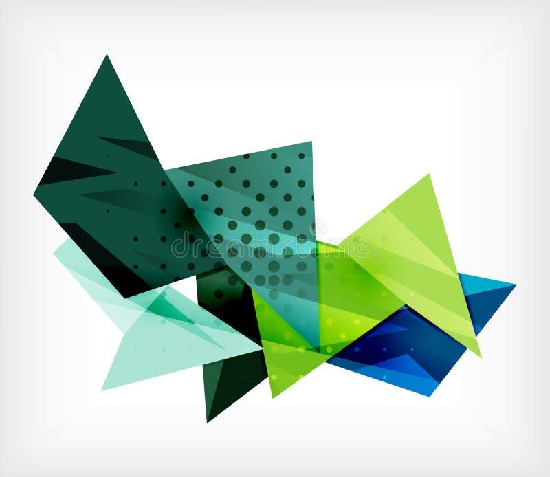 Fundo abstrato da placa do triângulo 3d ilustração royalty free