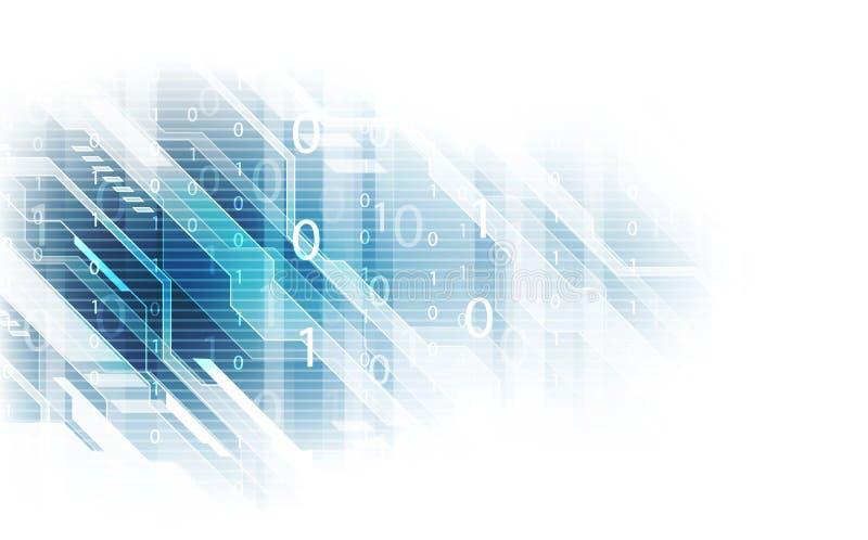 Fundo abstrato da rede de dados da segurança da tecnologia, ilustração do vetor ilustração royalty free