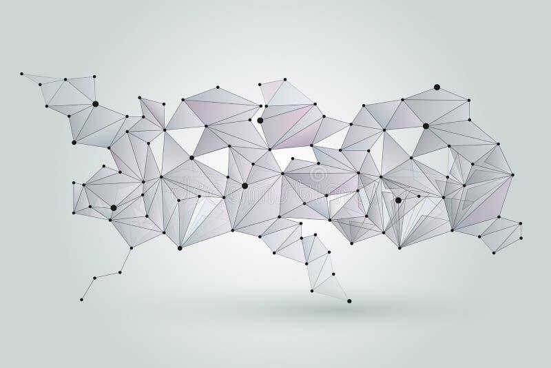 Fundo abstrato da rede Teste padrão cybernetic da conexão da tecnologia de Digitas ilustração do vetor