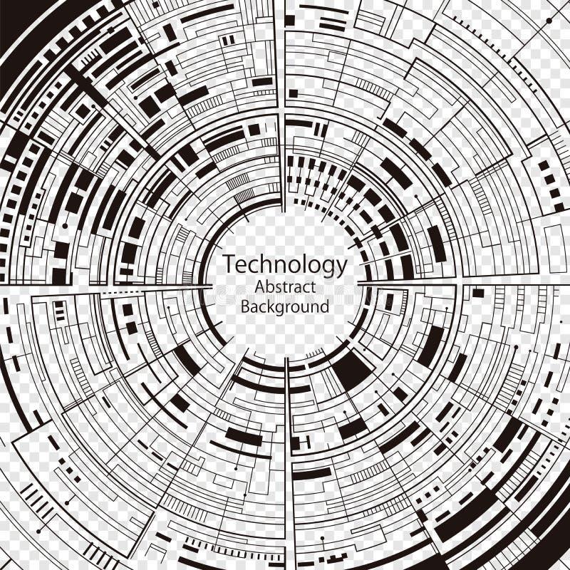 Fundo abstrato da tecnologia ilustração do vetor