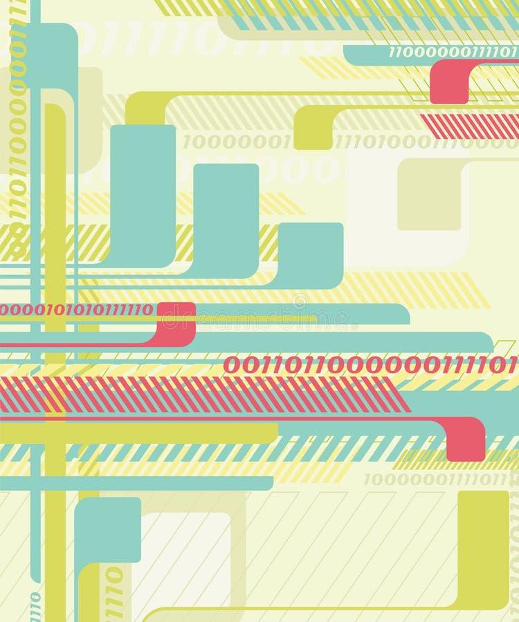 Fundo abstrato da tecnologia. ilustração stock