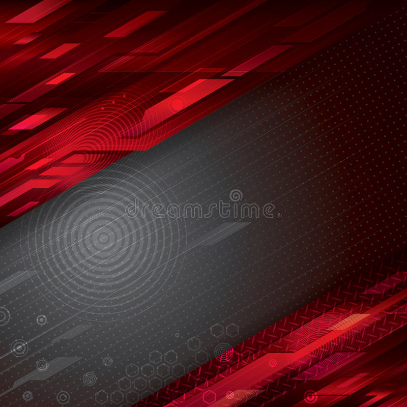 Fundo abstrato da tecnologia ilustração stock