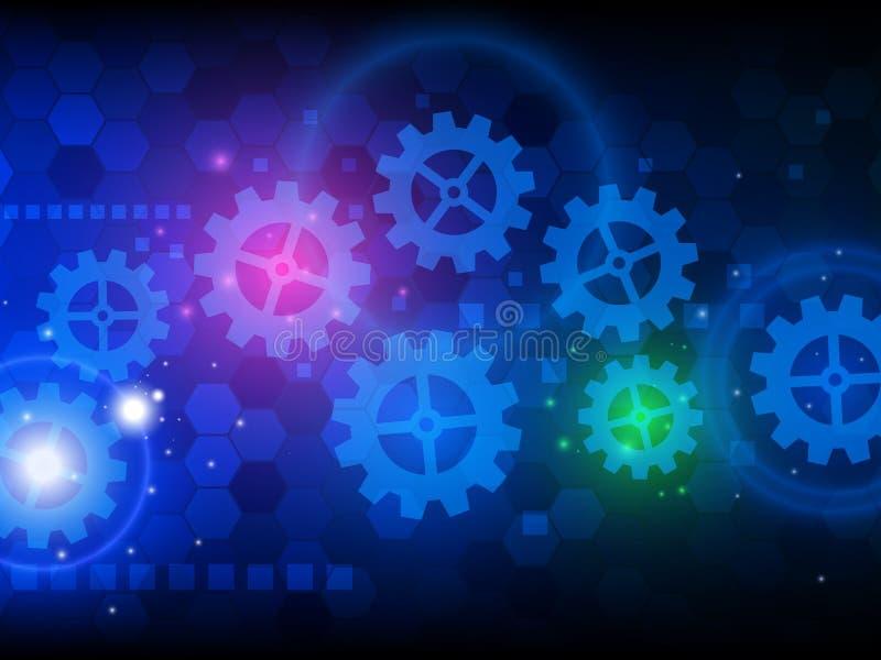 Fundo abstrato da tecnologia da olá!-tecnologia da engenharia Ilustração do vetor ilustração stock