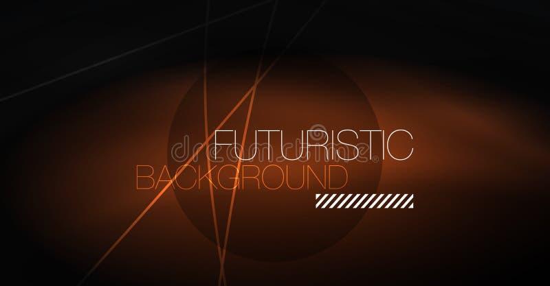 Fundo abstrato da tecnologia de Digitas - projeto geométrico de néon Linhas de incandescência abstratas Fundo colorido do techno ilustração do vetor