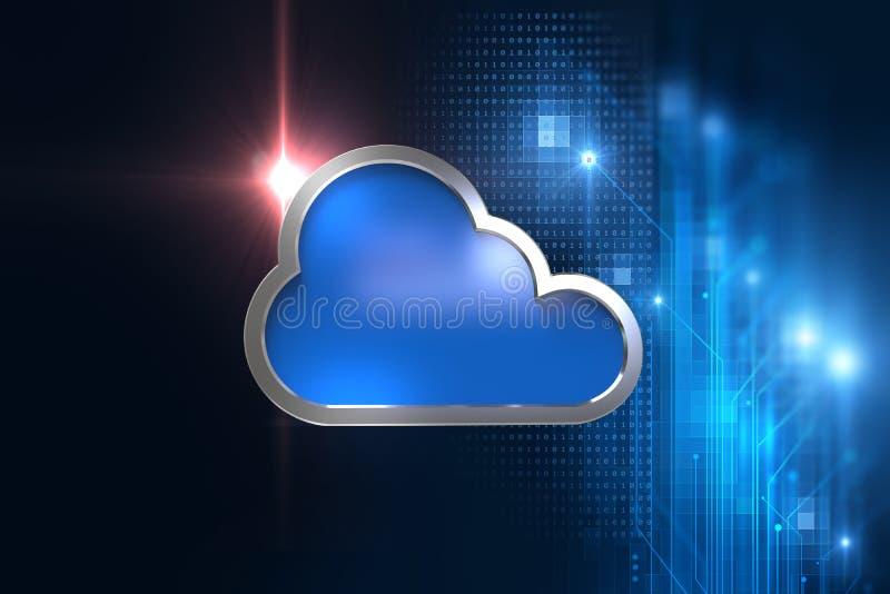 Fundo abstrato da tecnologia do sistema de computação da nuvem ilustração royalty free