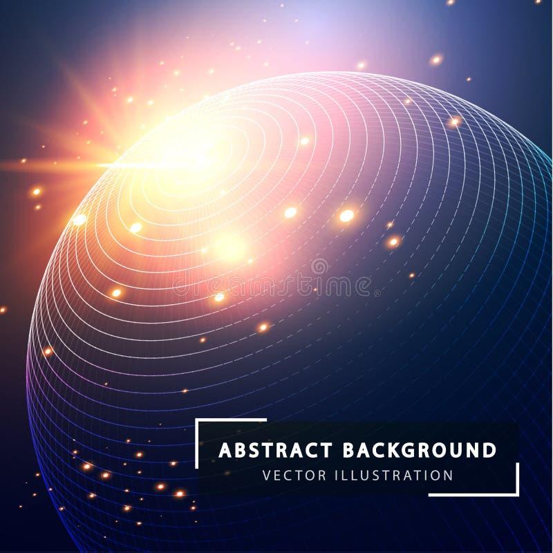 Fundo abstrato da tecnologia Estilo tecnologico futurista ilustração do vetor