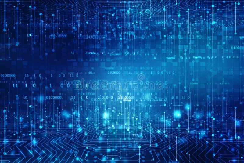 Fundo abstrato da tecnologia, fundo futurista, conceito do Cyberspace fotografia de stock