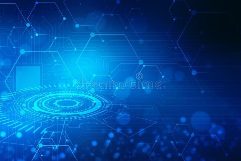 Fundo abstrato da tecnologia, fundo futurista, conceito do Cyberspace imagem de stock