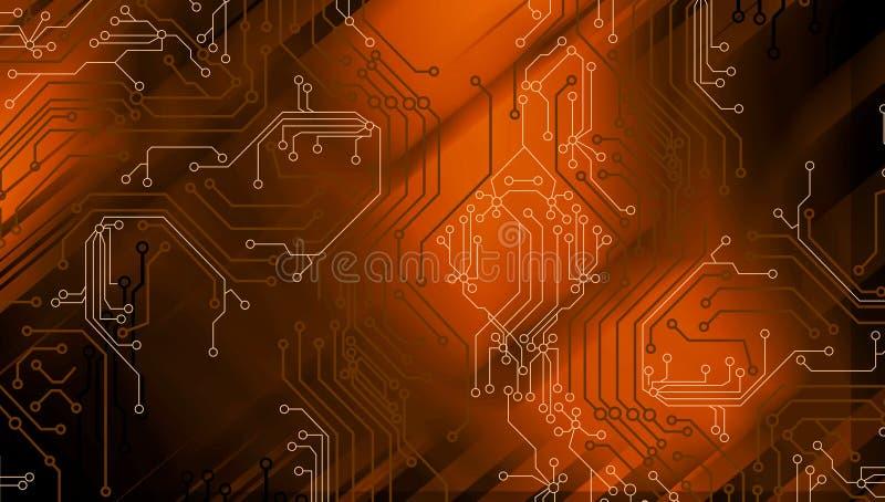 Fundo abstrato da tecnologia, fundo futurista, conceito do Cyberspace Ilustra??o do vetor ilustração stock