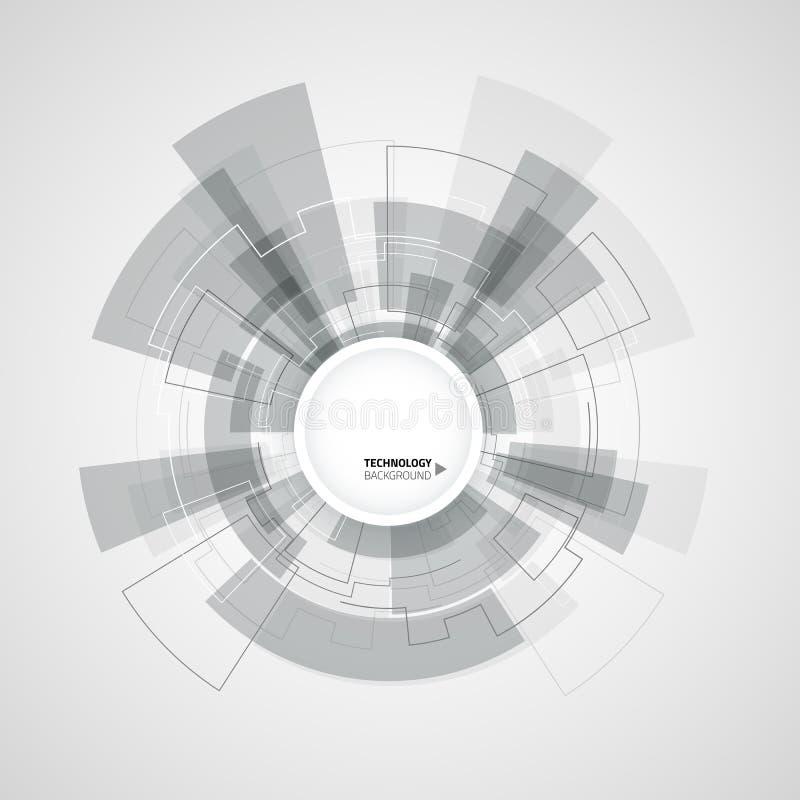 Fundo abstrato da tecnologia Ilustração do vetor ilustração stock