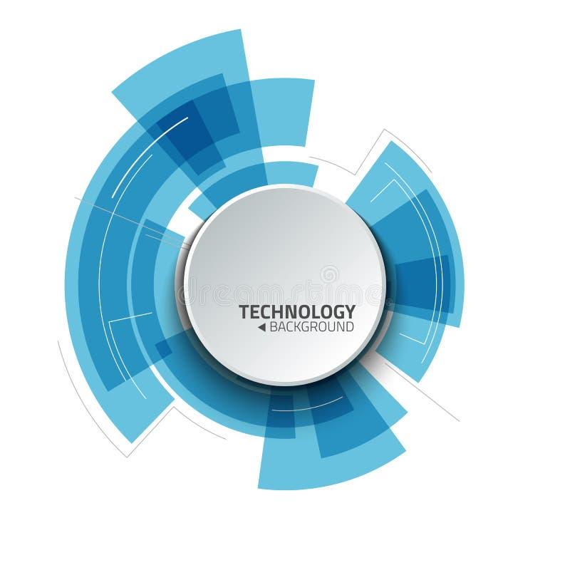Fundo abstrato da tecnologia Ilustração do vetor ilustração do vetor