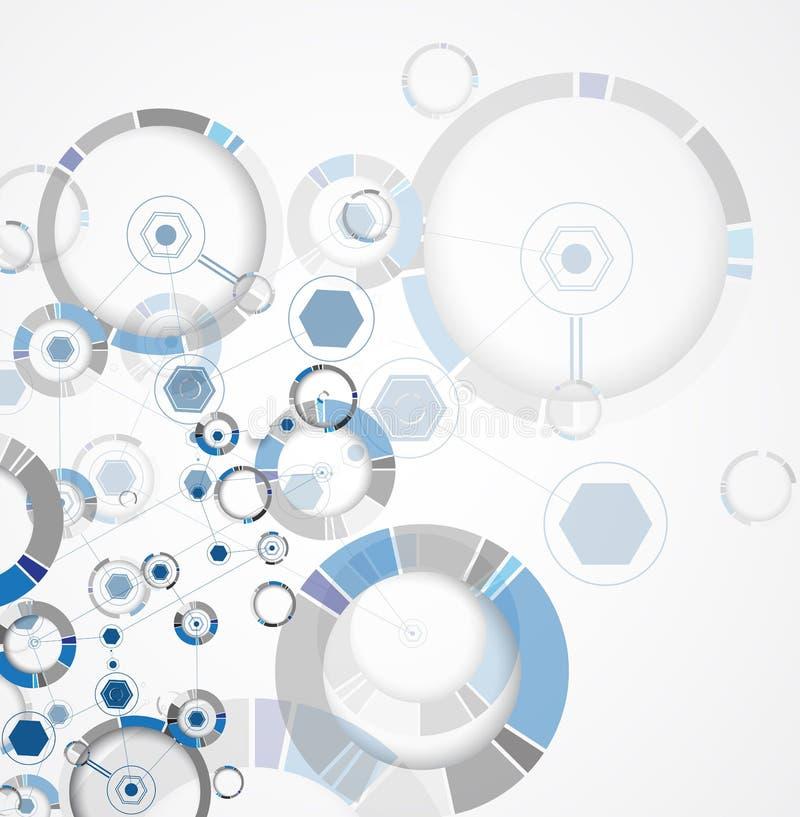 Fundo abstrato da tecnologia Relação futurista da tecnologia Vecto ilustração stock