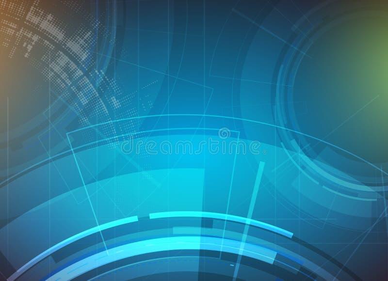 Fundo abstrato da tecnologia Relação futurista da tecnologia Vecto ilustração do vetor