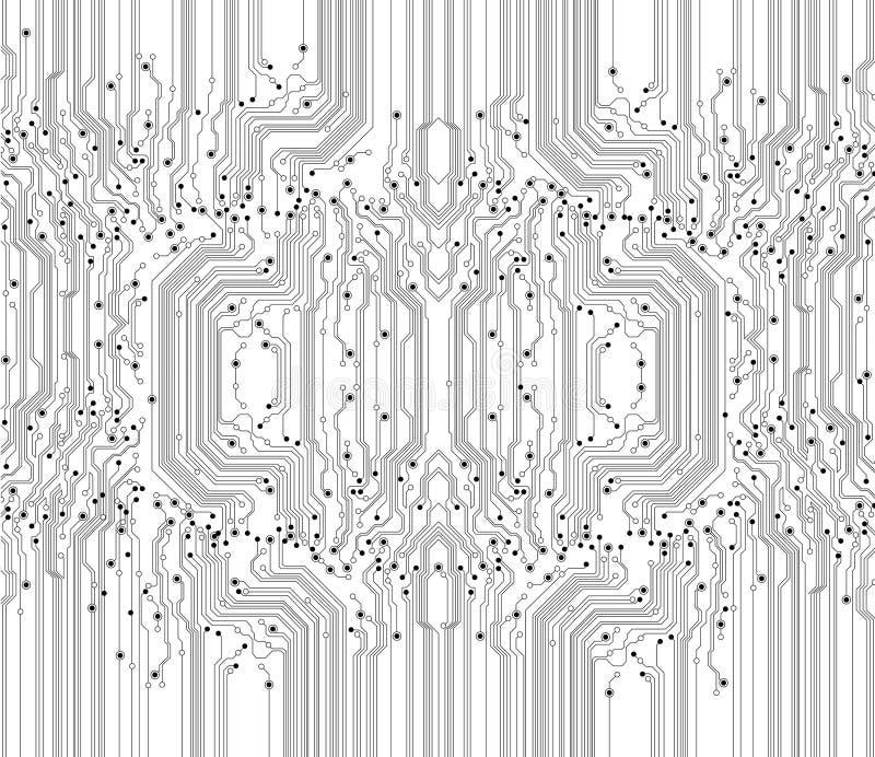 Fundo abstrato da textura da placa de circuito ilustração stock