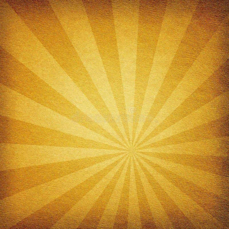 Fundo abstrato da textura da tela do Sunburst ilustração stock