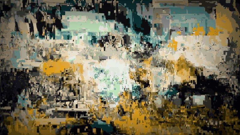 Fundo abstrato da textura do Grunge, contexto com testes padrões coloridos ilustração do vetor