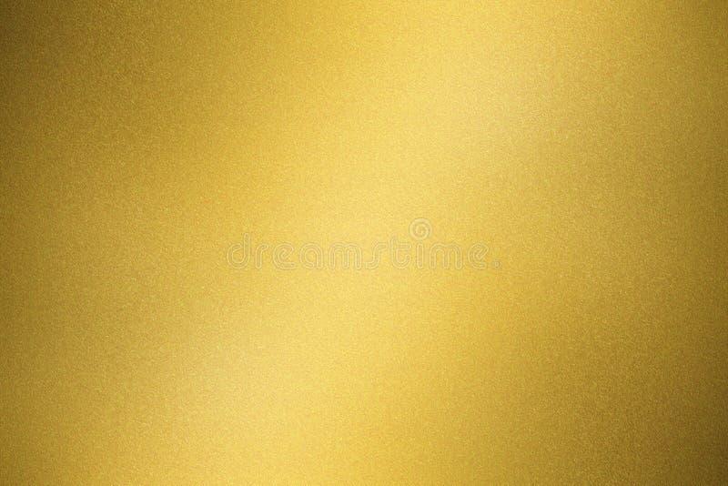 Fundo abstrato da textura, parede brilhante do metal do ouro imagem de stock