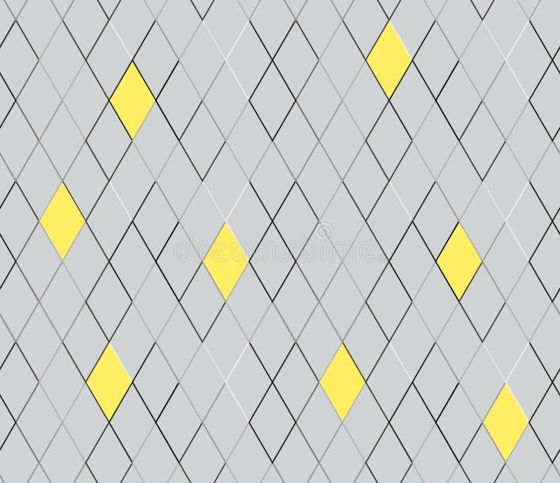 Fundo abstrato da textura, vetor sem emenda Teste padrão geométrico sem emenda do vetor Rombo da textura ilustração do vetor