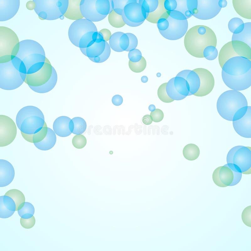 Fundo abstrato das bolhas ilustração stock