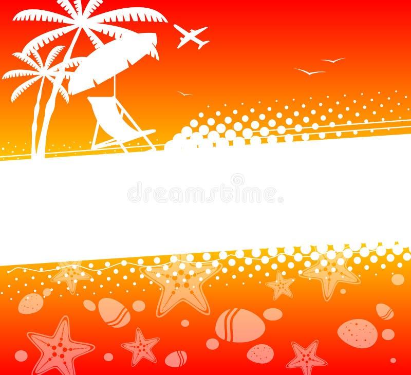 Fundo abstrato das férias de verão ilustração stock