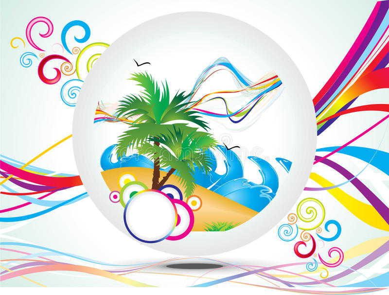 Fundo abstrato das férias de verão do arco-íris ilustração royalty free