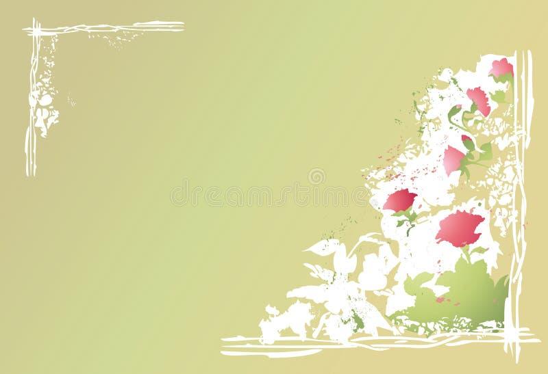 Fundo abstrato das flores ilustração royalty free