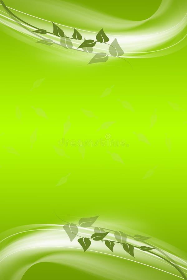 Fundo abstrato das folhas verdes ilustração do vetor