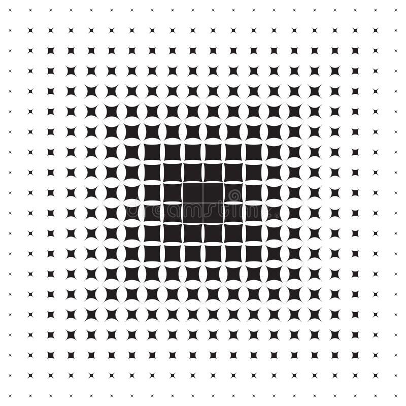 Fundo abstrato das formas geométricas pretas que aumentam para ilustração stock