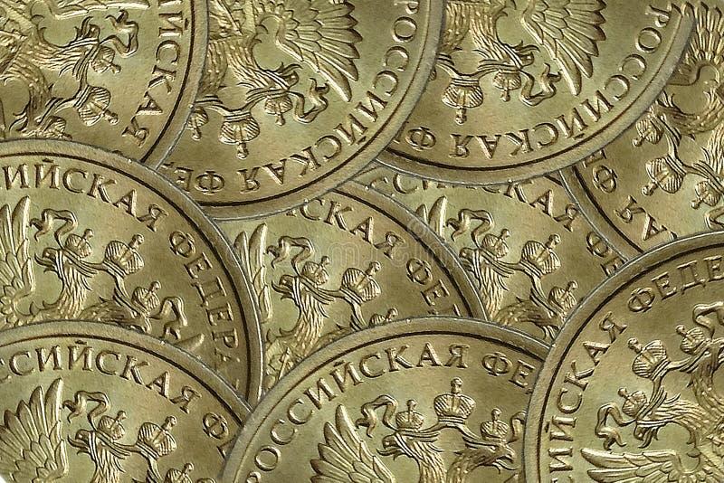 Fundo abstrato das moedas de Rússia imagem de stock royalty free