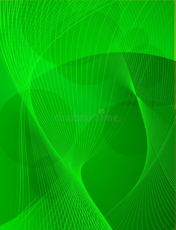 Fundo abstrato das ondas verdes ilustração do vetor