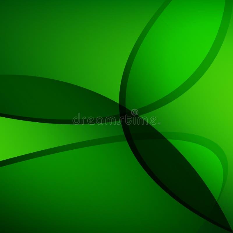 Fundo abstrato das ondas verdes Papel de parede do vetor foto de stock