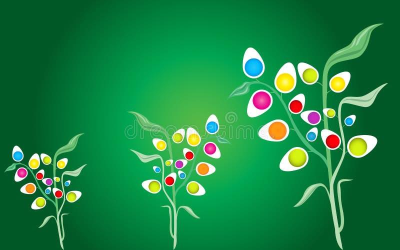 Fundo abstrato das plantas de ovos ilustração royalty free