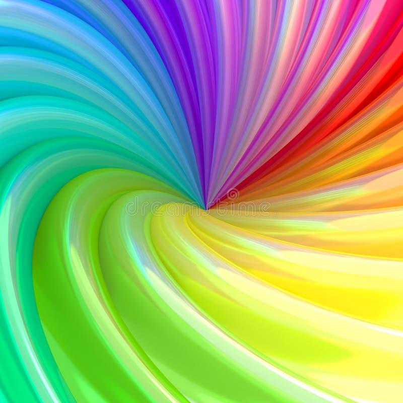 Fundo abstrato das tubulações coloridas do redemoinho ilustração royalty free