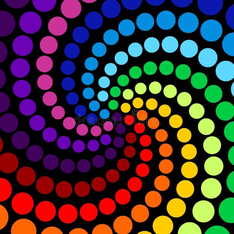 Fundo abstrato de círculos coloridos ilustração stock