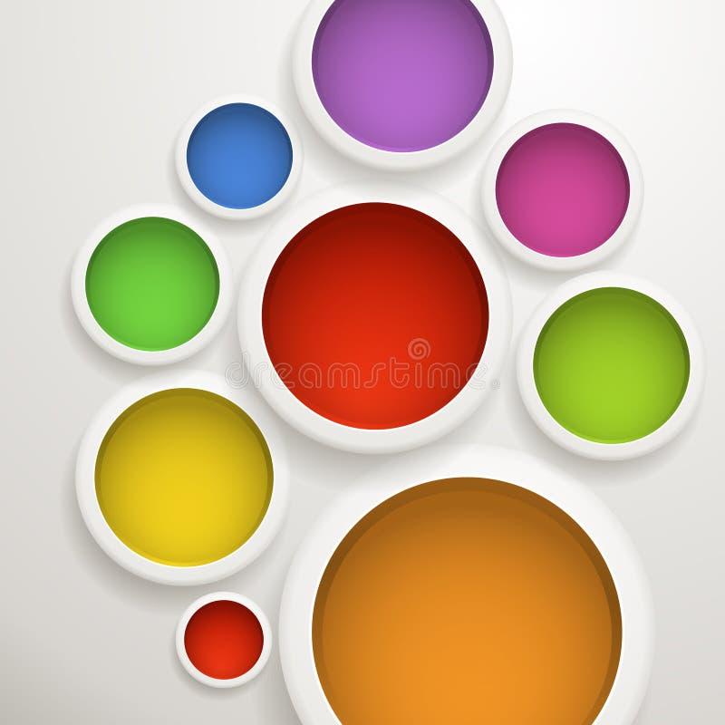 Fundo abstrato de círculos de cor ilustração royalty free