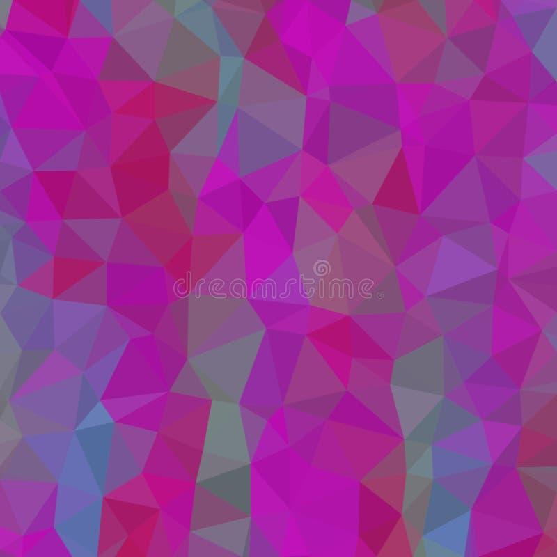 Fundo abstrato de cores cor-de-rosa e marrons e verdes e cinzentas de fragmentos claros e escuros ao estilo de baixo-poli ilustração stock