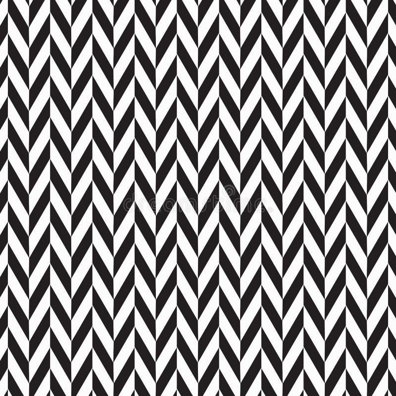 Fundo abstrato de desenhos em espinha as cores pretas surgem o teste padrão com linhas da diagonal da viga ilustração do vetor