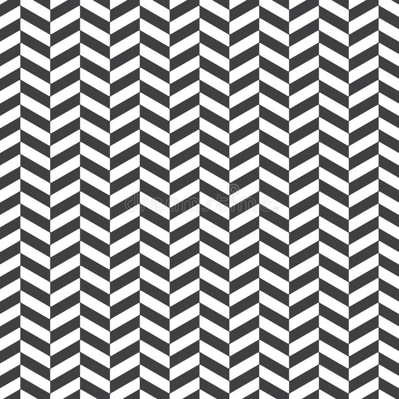 Fundo abstrato de desenhos em espinha as cores pretas surgem o teste padrão com linhas da diagonal da viga Ornamento geométrico c ilustração royalty free